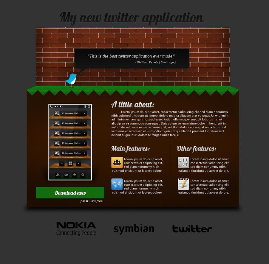 Twitter App Website Design by Real99