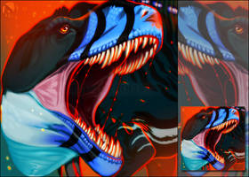 [c] OrangeEyedSerpent Icon Commission by Noctalosis