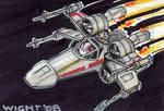 X-wing Sketchcard