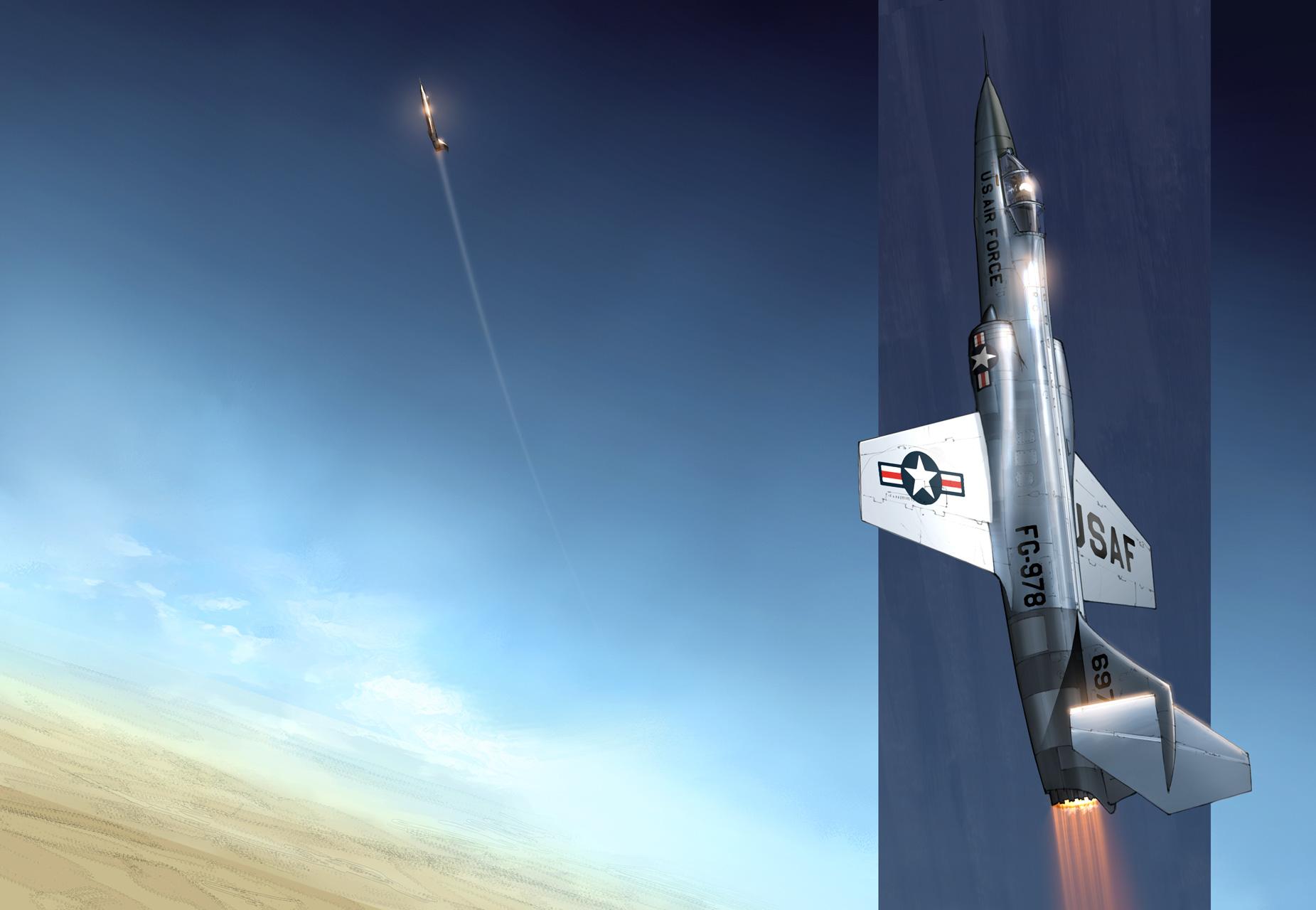 F-104 ascending
