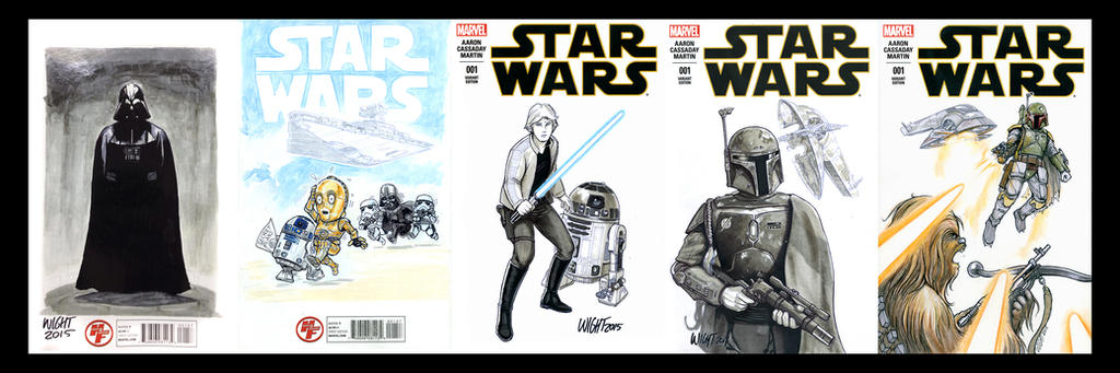 Star Wars Marvel Sketch covers by joewight