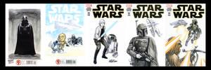 Star Wars Marvel Sketch covers