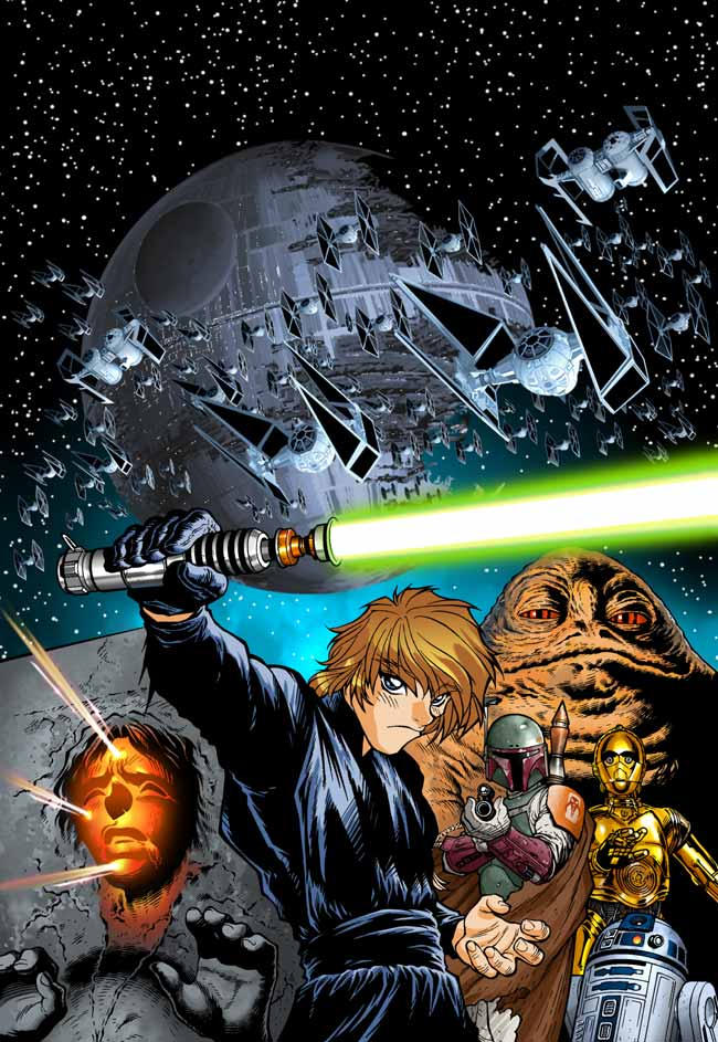 dessins et affiches star wars - Page 16 Return_of_the_Jedi_Manga_1_by_joewight