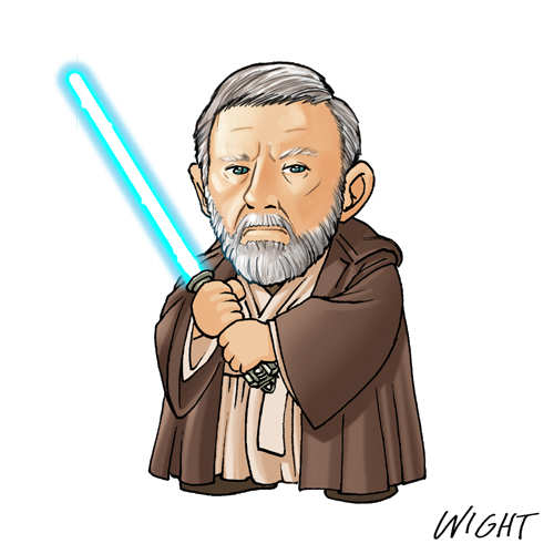O is for Obi-Wan by joewight