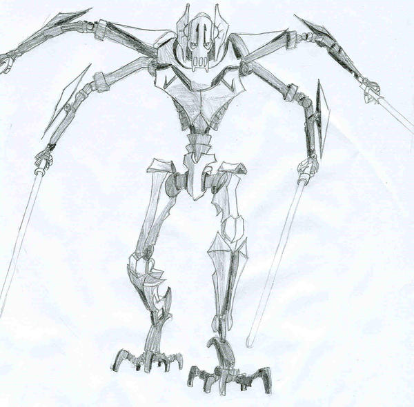 How to draw general grievous short hairstyle 2013 for General grievous coloring page