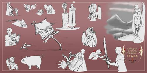That First Spark - Sketchdump 2020-02-12 by kenyizsu