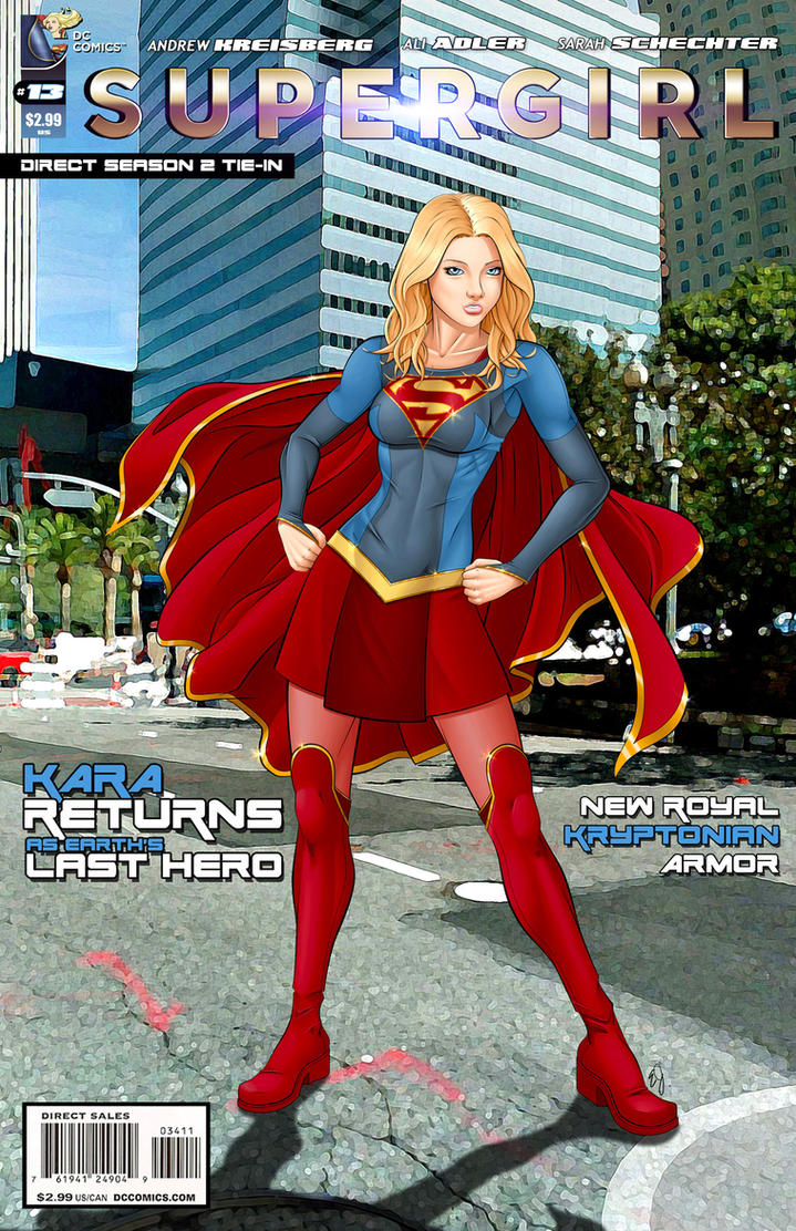 Supergirl TV Comic Season 2 Imagined by Spacecowboytv