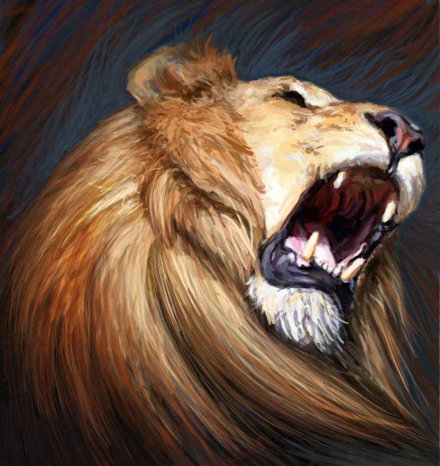 Roaring Like a Lion by ChayaA on DeviantArt