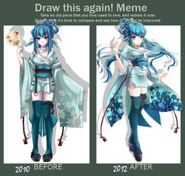 Before after meme-Gin-chan by Sera-chama