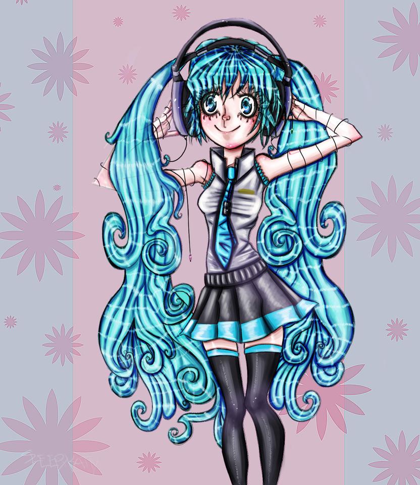 Floral Vocaloid by SleepyKattY
