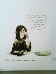 'Snape' gift-doodle by Pika-la-Cynique