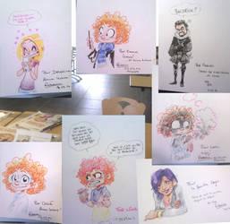 Alyssa book dedication doodles by Pika-la-Cynique