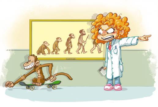 Alyssa vol.2 title page art - Silly Monkey