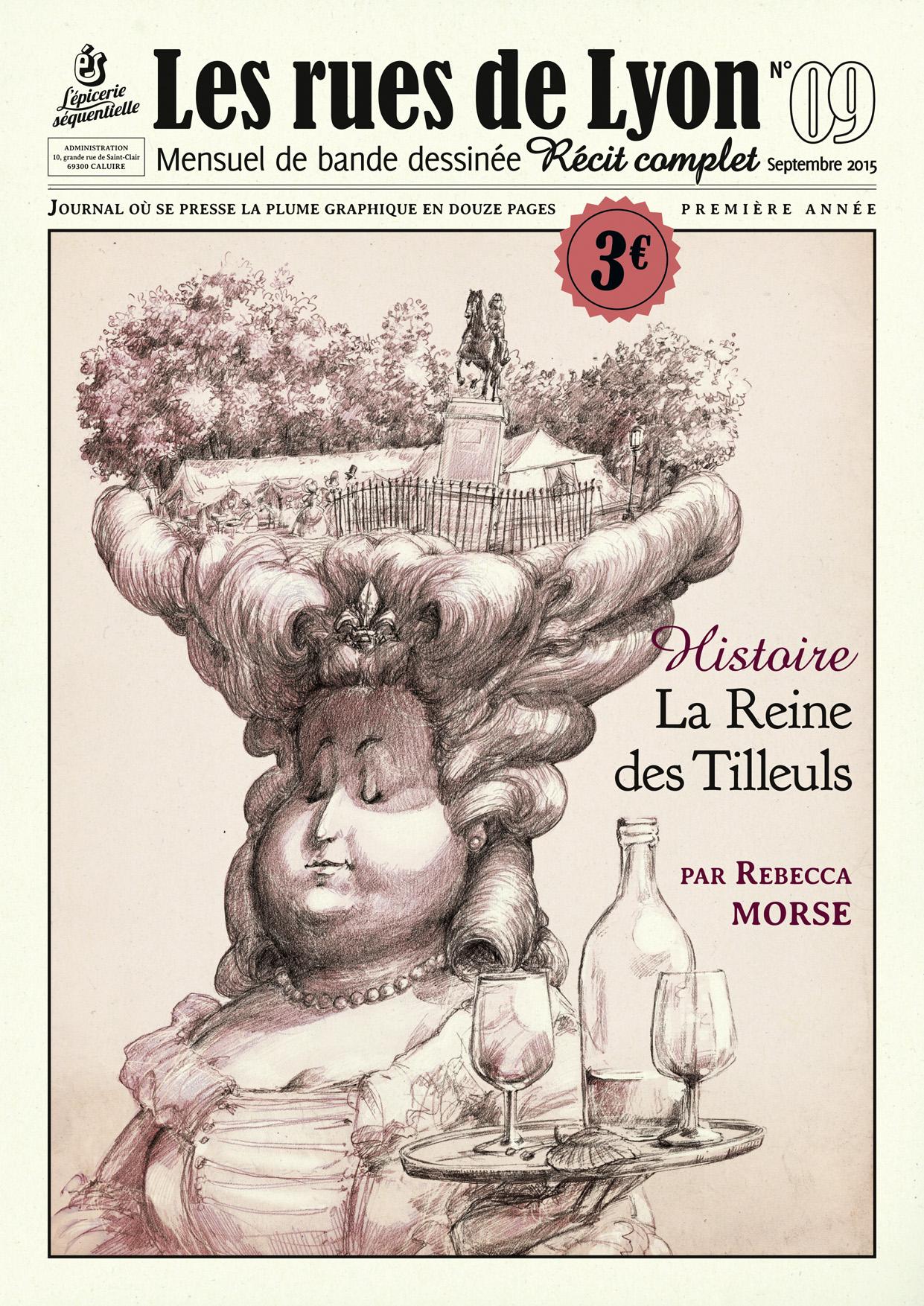 Rues de Lyon history comic - cover art by Pika-la-Cynique