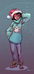 80s fuzzy winter doodle by Pika-la-Cynique