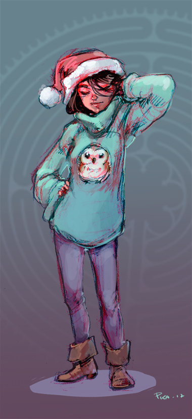 80s fuzzy winter doodle by Pika-la-Cynique