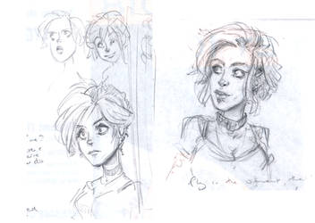 Dresden Files - Molly Carpenter doodles by Pika-la-Cynique