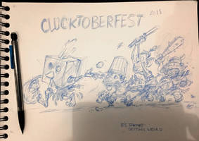 CLUCKTOBERFEST 2018 - temp pencils by Pika-la-Cynique
