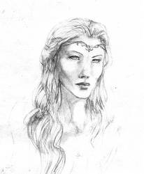 Galadriel portrait, sketch