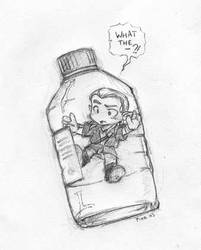 Elf in a bottle