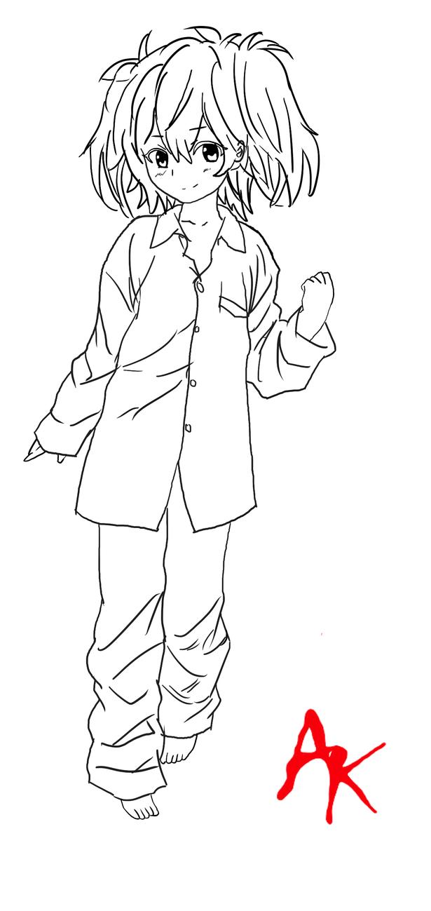 Line Drawing Riddles : Akuma no riddle haru pajama lineart by brand chan on