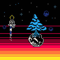 Tree in space [pico-8 palette]
