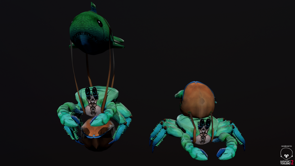 dota 2 courier crab 3d by pasco295 on deviantart