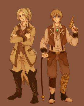 Hetalia | Steampunk England and France
