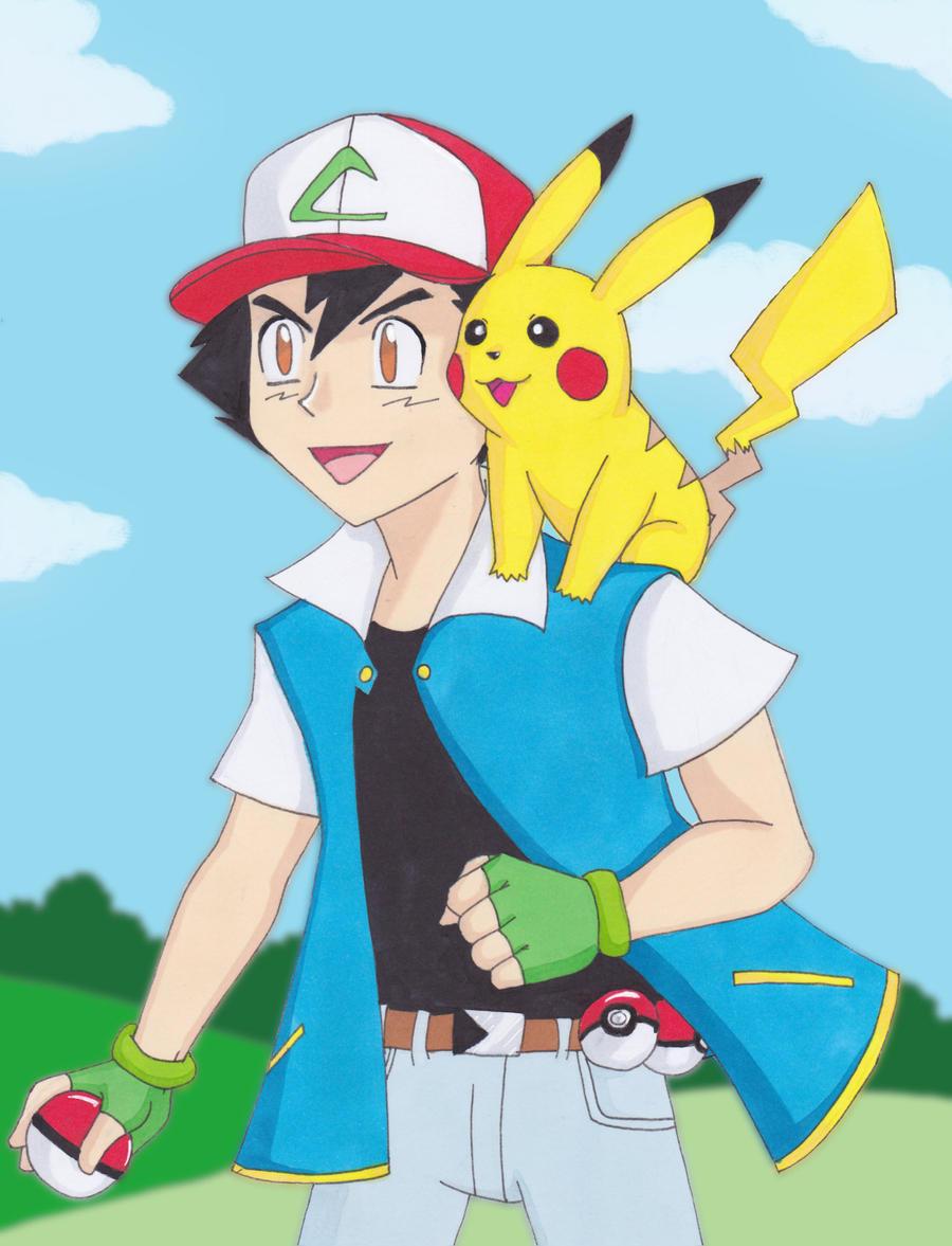 Ash and pikachu by gyzra on deviantart