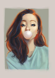 Art study: Bubblegum girl