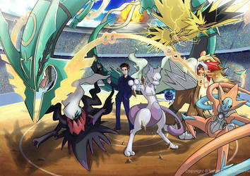 Pokemon Team commission by Gyzra