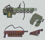Daily Doodle #9: more gun sketches.