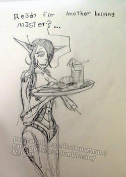 reprogrammed queenbot? by PackRatPrincess