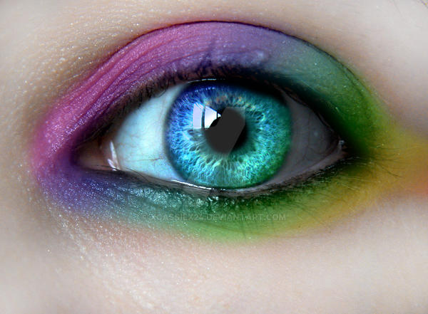 Rainbow Make-Up by xCassiex24