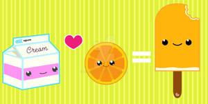 When Cream loves an Orange