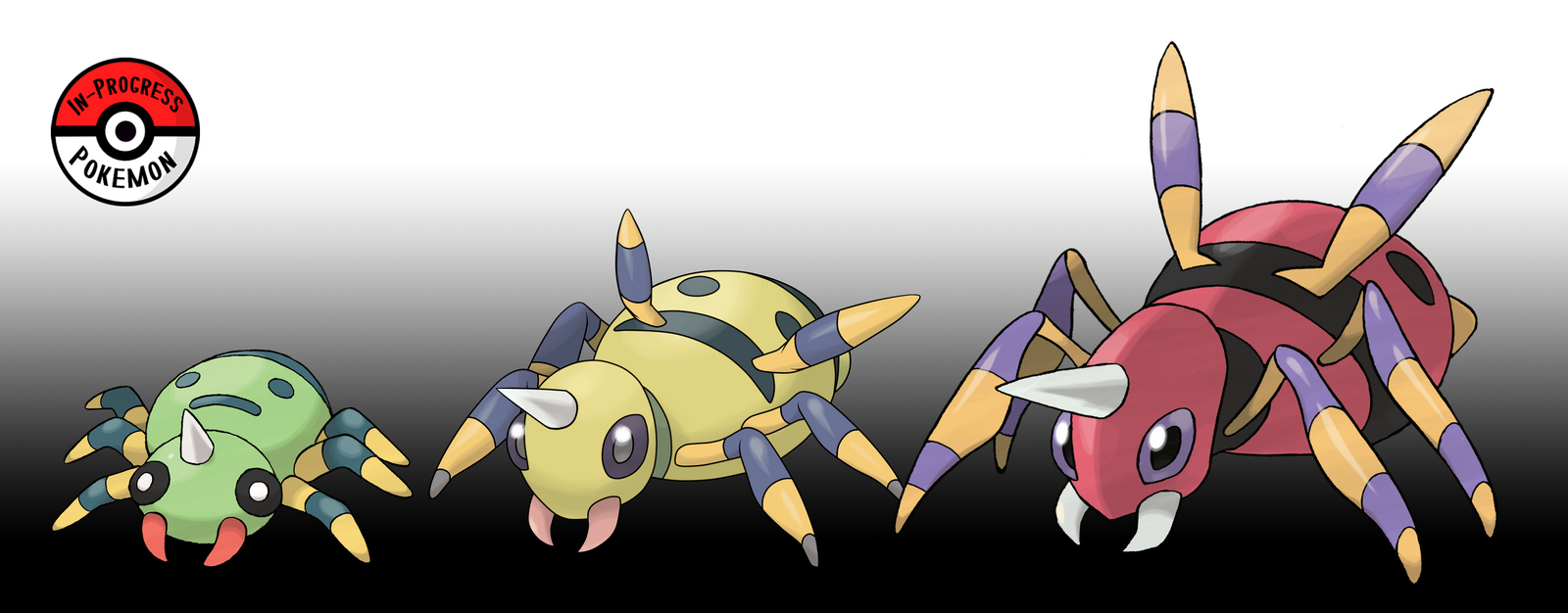 167 - 168 Spinarak Line by InProgressPokemon