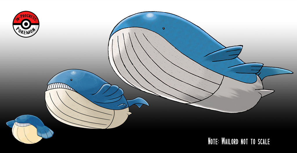 320 - 321 Wailmer Line by InProgressPokemon on DeviantArt Wailmer Evolution Chart