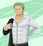 [ Fanart| One Piece ] Zoro puts on a suit by nektoart