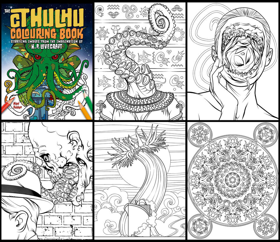 The Cthulhu Colouring Book by handtoeye