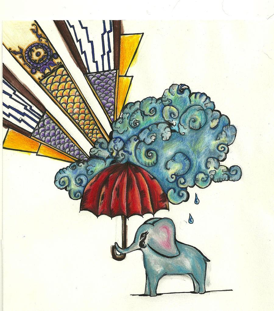 art deco elephant by foxhawk95 on deviantart. Black Bedroom Furniture Sets. Home Design Ideas