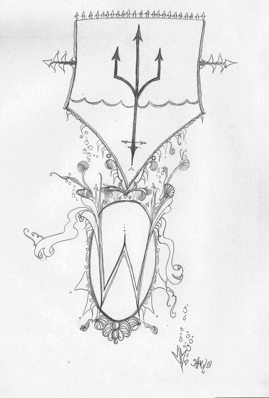 Poseidon Symbol Poseidon's symbol by foxhawk95