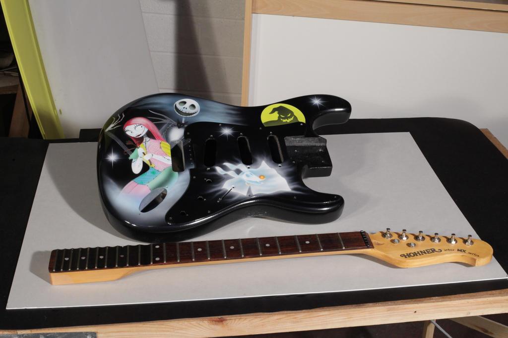 Nightmare before Christmas custom guitar. by JPfx on DeviantArt
