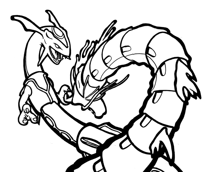 pokemon coloring pages servine wallpaper | Rayquaza and Gyarados by Koober on DeviantArt