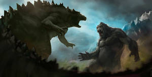King Kong vs Godzilla by Xell07