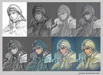 Griffith fanart - step by step