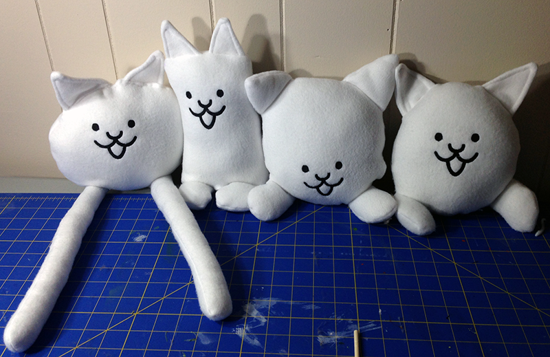 Battle Cats Inspired Plushie by tone-e-rome on DeviantArt