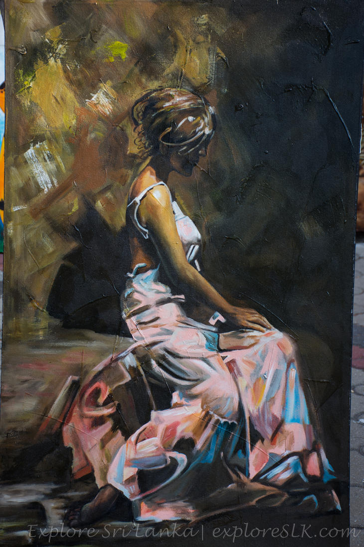 Painting of Lonely Woman by exploreSLK