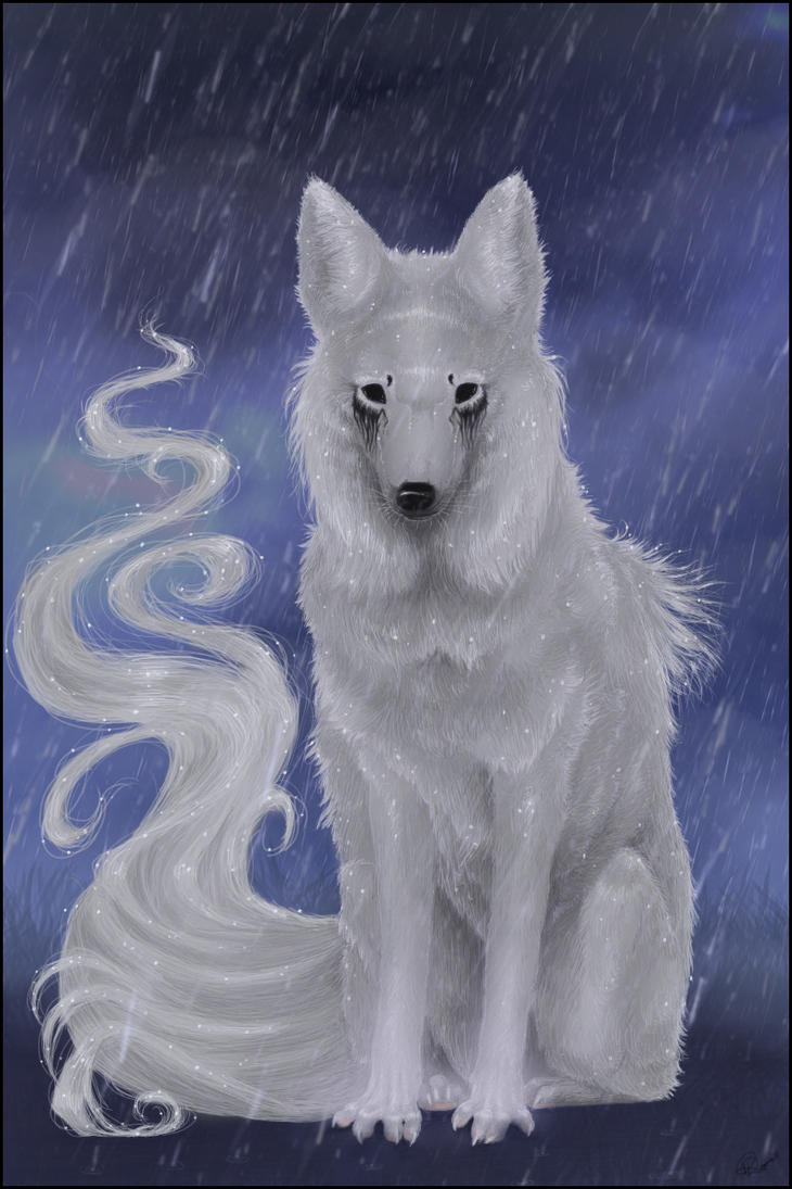 Birthday WolfRoad: Rain by Fealoki