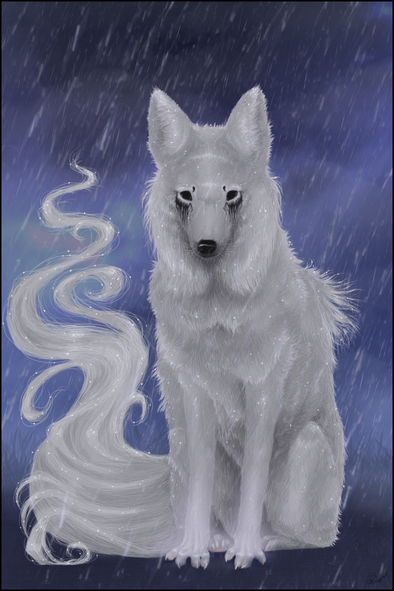 Birthday WolfRoad: Rain by Fealoki