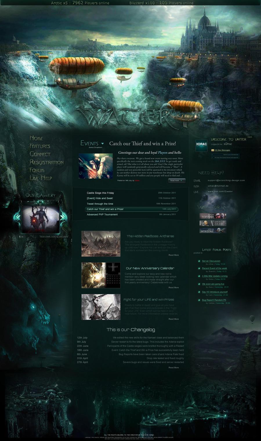 Water Fantasy by xDrac